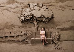 Dirt is Good: 18-ton Sand Sculpture Backdrops by JOOheng Tan