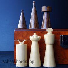 schaakset type Galba (90mm), schaakstukken met schaakbord wedge/essen 45