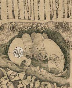 Illustrating book by Sash Petryaeva, via Behance
