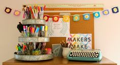 Warning: You're going to be super jealous of this this tidy craft room.