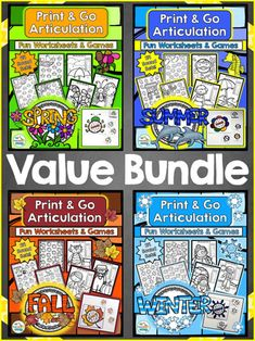 Year Round Articulation Print & Go Bundle by teachingtalking.com