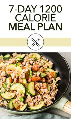 For simplicity and great-tasting options, check out this 7-day 1200 calorie meal plan! Who says eating healthy has to taste bland and boring? Clean Eating Grocery List, Clean Eating Recipes For Dinner, Clean Eating Meal Plan, Clean Eating Breakfast, Clean Eating Snacks, Eating Healthy, Dinner Recipes, Low Calorie Meal Plans, Vegan Meal Plans