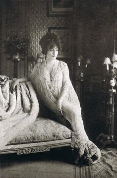 Actress Genevieve Lantelme (in Madeleine Vionnet, designed in 1907 at Maison Doucet).