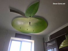 bedroom ceiling designs of gypsum green apple shaped