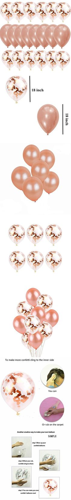 Gold Confetti Balloons Birthday Wedding 50 Pcs 12 Inch Golden Helium Latex Plastic Dots Glitter Balloon Bulk for Party Decorations Baby Kids Girl Women Graduation Set 6