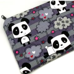 Hearts and flowers panda pencil pouch! $11.50