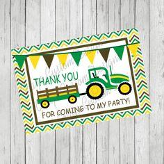 Printable John Deere Thank You Card/John Deere Thank You/John Deere Theme Party Invitation/John Deere Digital Thank You/Tractor Thank You
