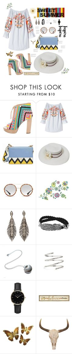 """""""SweetSummer"""" by avfranz ❤ liked on Polyvore featuring Jerome C. Rousseau, Free People, Prada, Chanel, Gucci, York Wallcoverings, Venus and ROSEFIELD"""