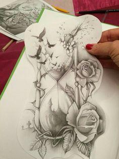 41 Trendy Ideas Tattoo Women Thigh Hourglass tatuagem tatuagem cascavel tatuagem de rosa tatuagem delicada tatuagem e piercing manaus tatuagem feminina tatuagem moto clube tatuagem no joelho tatuagem old school tatuagem piercing tattoo shop Dope Tattoos, 3d Tattoos, Pretty Tattoos, Beautiful Tattoos, Body Art Tattoos, Sleeve Tattoos, Thigh Sleeve Tattoo, Tatoos, Faith Tattoos