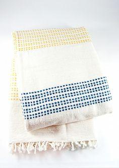 Blue and Yellow Beach Blanket @Carla Costephens Plus World Market   #WorldMarket #SummerFun