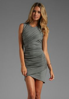 Torn by Ronny Kobo Alicaia Dress in Charcoal