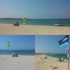 Naxos kitesurf club, no stress team, modern easy kitesurf method, never crowded... 😉 #naxoskitesurf #naxosglyfada Europe News, Club, Playground, Greece, Stress, Beach, Water, Modern, Outdoor