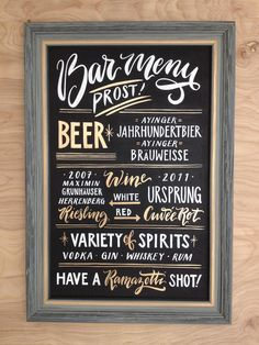 Signature Drink Sign Chalkboard Bar Menu Wedding Sign : Hand Painted with Real White and Gold Enamel Lettering Custom Bar Sign Papertangent