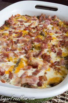 So good...will definitely make again! cauliflower bacon cheeseburger casserole