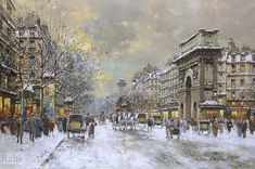 snow scenes in paris | ... street scenes impressionist street scenes school of paris winter snow