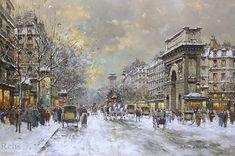 snow scenes in paris   ... street scenes impressionist street scenes school of paris winter snow