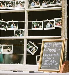 photo guest book idea @weddingchicks
