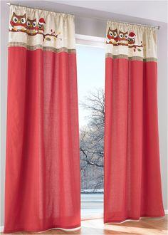 """Vorhang """"Lilly"""" (1er-Pack), Kräuselband rot/sand/braun - bpc living jetzt im Online Shop von bonprix.de ab ? 16,99 bestellen. Toller Baumwoll-Vorhang mit ..."""