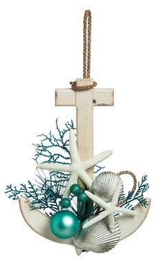 Adorable Coastal Anchor Wall Décor – Christmas by the sea == The post Coastal Anchor Wall Décor – Christmas by the sea ==… appeared first on 99 Decor . Beach Christmas Ornaments, Coastal Christmas Decor, Nautical Christmas, Tropical Christmas, Christmas Crafts, Christmas Decorations, Coastal Decor, Coastal Furniture, Wall Decorations