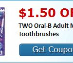 save up to $2 on OralB toothbrushes today!