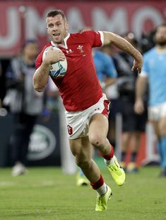 Wales keen to forget Uruguay result and mull quarterfinal Welsh Rugby Team, Gareth Davies, Hot Rugby Players, Wales Rugby, All Blacks Rugby, Eden Park, Rugby World Cup, Balls, Tennis