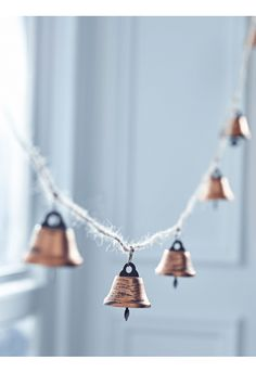 Copper Jingle Bell Garland - Indoor Living