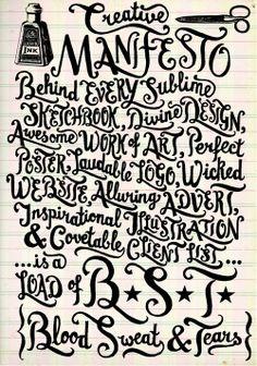 my creative manifesto: Debbie Kendall