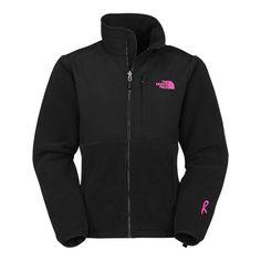 The North Face Pink Ribbon Denali Black Jacket