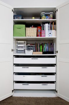 Pax cabinet from Ikea- large double door storage unit.
