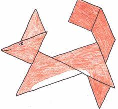 tangram squirrel - Google Search