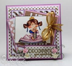 A World of Creative Possibilities: Kraftin' Kimmie Stamps : Happy birthday challenge!