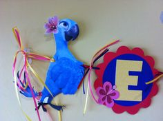 This is the perfect name banner for your little RIO or RIO 2 fan. I created this for my daughter who loves sparkle and Jewel from both movies. Each