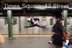 Ballet dancers in unexpected situations | Incongruity can lead to such delightful art!
