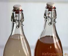 Waterkefir - Kefirplantje.eu Water Kefir, Kombucha, Wine Decanter, Carafe, Tweed, Healthy Recipes, Healthy Food, Smoothies, Foodies
