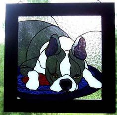 Stained Glass Paint, Stained Glass Panels, Stained Glass Projects, Stained Glass Patterns, Dog Pattern, Pattern Art, Art Patterns, Tiffany Kunst, Mosaic Glass
