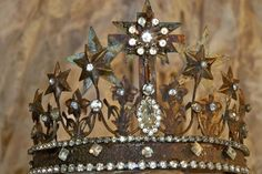 French inspired cCrown tiara vintage Santos by AnitaSperoDesign, $72.00