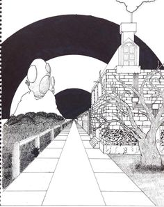 1 point perspective drawing I did a while back