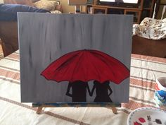 Lovers in the rain Rain, Lovers, Paintings, Curtains, Shower, Simple, Prints, Rain Shower Heads, Painting