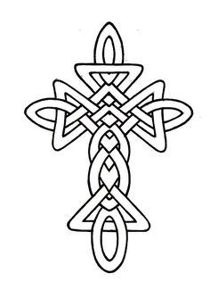 Celtic Cross Coloring Pages Page 1
