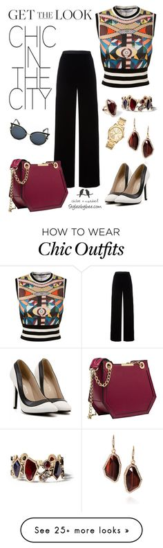 """""""Chic in the city"""" by stylez-by-bee on Polyvore featuring T By Alexander Wang, Givenchy, Chloe + Isabel, Michael Kors and KOON"""