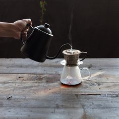Warm coffee in the morning