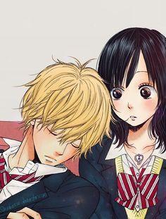 """Aunque a mi no me gusta:v creo que a algunos si:) la pareja de """"ookami shoujo to kuro ouji"""""""