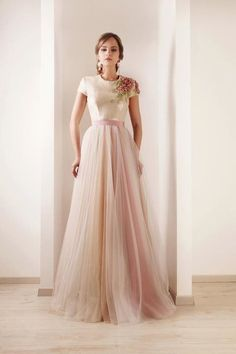 Blush pink tulle skirt (wedding dress?) from Rami Kadi 2012 Couture collection