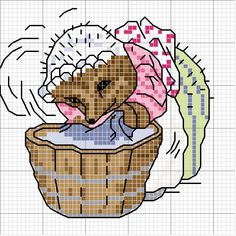 Schematic cross stitch Volpe - Mrs. Tiggywinkle!!