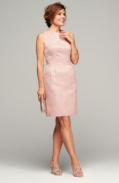 Free shipping and returns on Tahari Jacquard Sheath Dress (Regular & Petite) at Nordstrom.com. Lustrous, textured jacquard fabric fits and flatters this slightly pleated sheath that's radiant enough for parties yet modest enough for work.