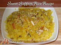 The look and smell of saffron rice is delicious and tempting. It makes a perfect desert for lunch or any kind of get together. You can serve this dish cold or warm.