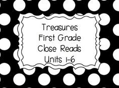 Treasures Close Read Pack for First Grade