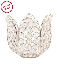 Made+In+India+Monroe+Crystal+Lotus+Votive