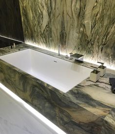 Beautiful bathroom counter top and toe kick accent lighting