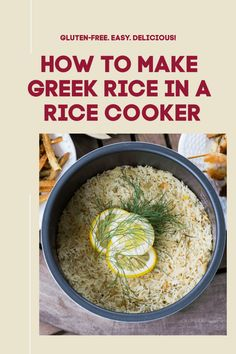 This is such an easy and flavorful way to make Greek Lemon Rice in your rice cooker! Greek Lemon Rice, Rice Cooker, Gluten Free Recipes, Cooking Tips, Oatmeal, Meals, Breakfast, Food, The Oatmeal